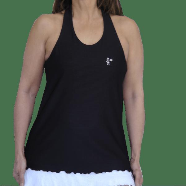 Camiseta deportiva mujer en negro