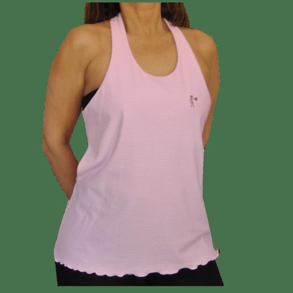 Camiseta mujer fitness rosa