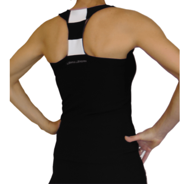 Camiseta padel mujer navy negra