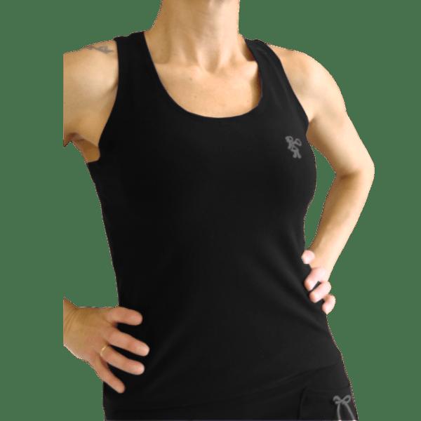 Camiseta padel mujer modelo Navy negro