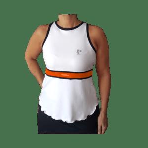 Camiseta padel Claudia naranja