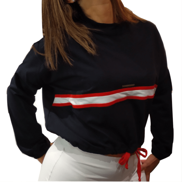 Sudadera deportiva mujer con cordon