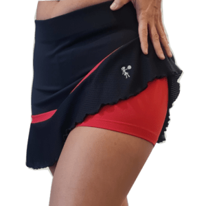 Falda padel tenis peplum negra