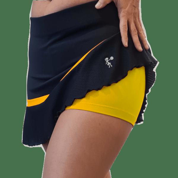Falda padel peplum amarilla