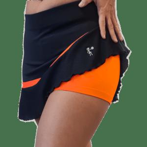 Falda Peplum Naranja