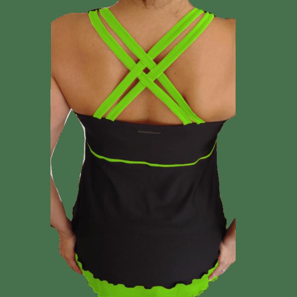 Camiseta padel mujer verde fluor