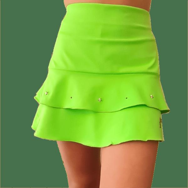 Falda padel volantes color verde fluor